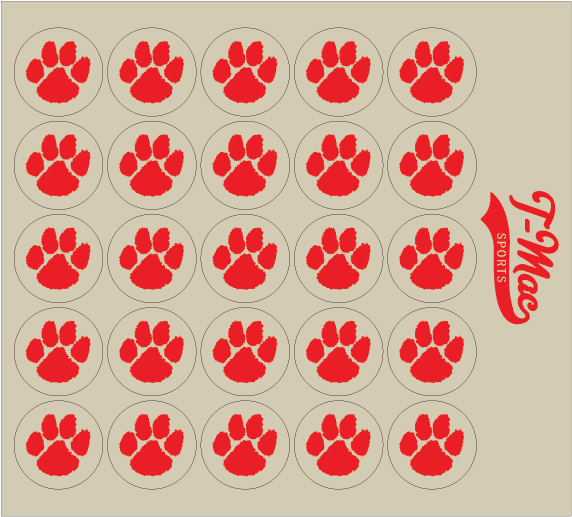 Paw Award Decals, Mini Award Decals - T-Mac Sports