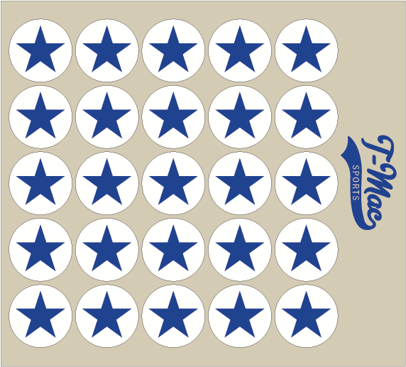 Star Award Decals (2), Mini Award Decals - T-Mac Sports