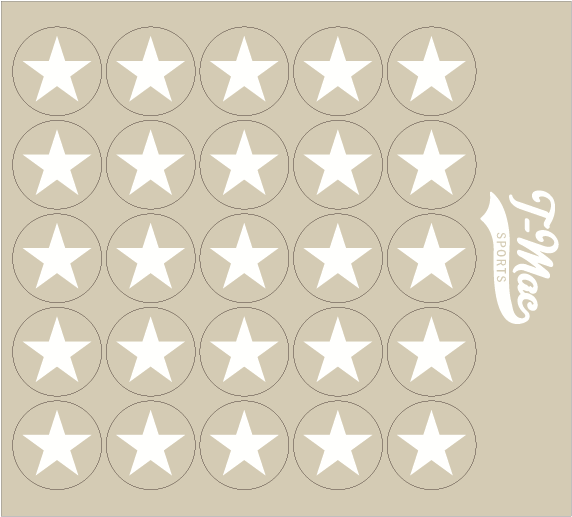Star Award Decals, Mini Award Decals - T-Mac Sports
