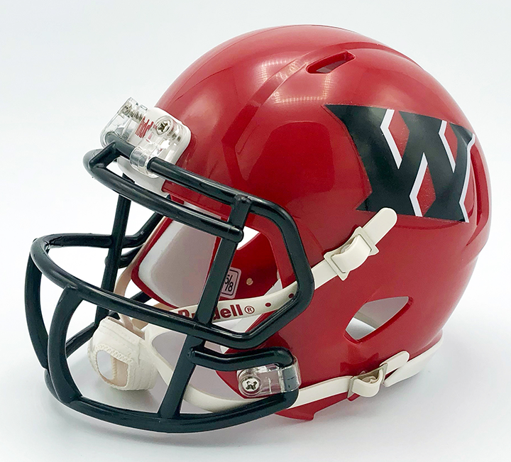 Weir (WV), Mini Football Helmet - T-Mac Sports