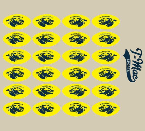 Wolverine Award Decals, Mini Award Decals - T-Mac Sports