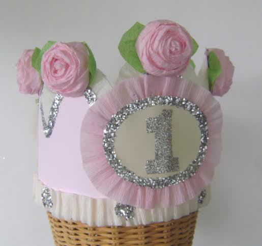 First Birthday Girl's Rose Birthday Hat