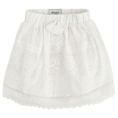 Skirt with Pom Trim
