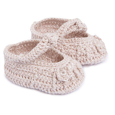 Soft Pink Crochet Booties