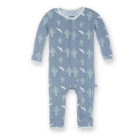 Print Fitted Coverall in Dusty Sky Cactus