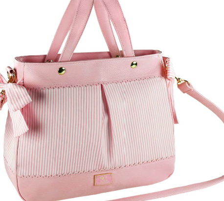 Stripes Diaper Bag Set - Baby Rose