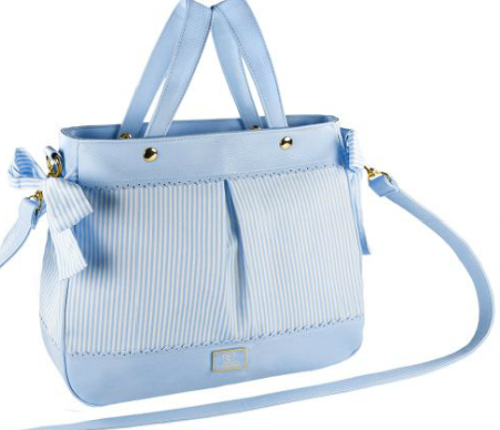 Stripes Diaper Bag Set - Sky