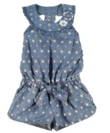 Denim Star Romper