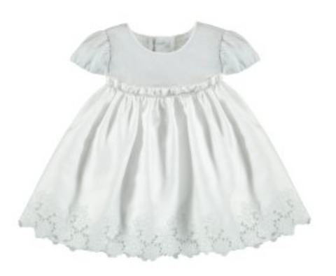 Silver Embroidered Baby Dress
