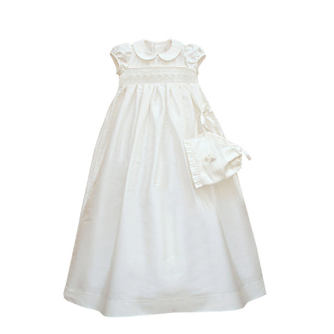 Ivory Silk Christening Gown
