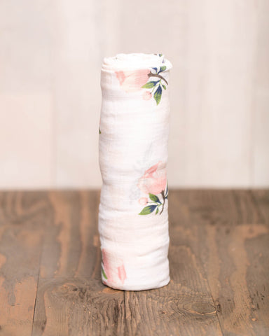 COTTON SWADDLE - WATERCOLOR ROSE