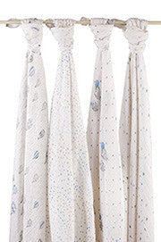 Night Sky Swaddle Classic Muslin Collection  (4 Pack)