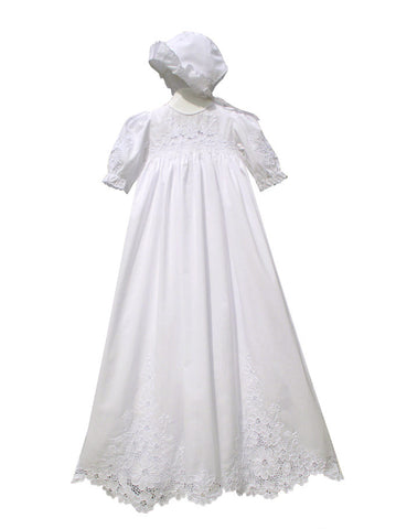 Royale Embroidered Christening Gown