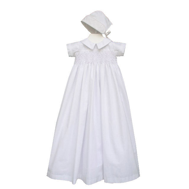 Smocked Boy Christening Gown