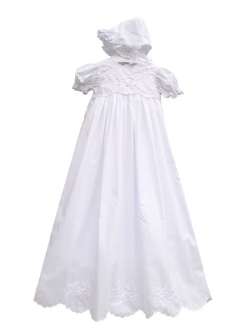 Springtime Embroidered Christening Gown