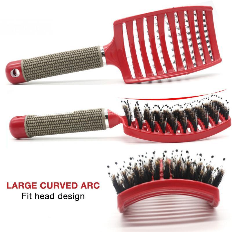 Arc Form Curved Comb For Curly Hair