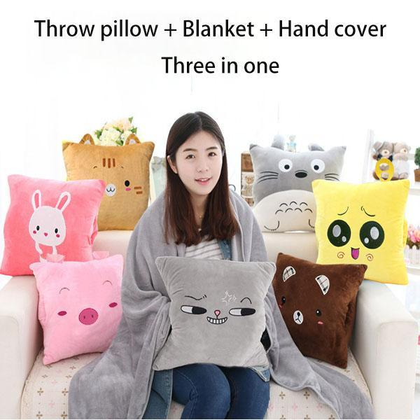Multi-functional winter cushion blanket