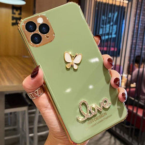 Elegant Butterfly Rhinestone iPhone Case (Christmas Promotion-ONLY$9.99)