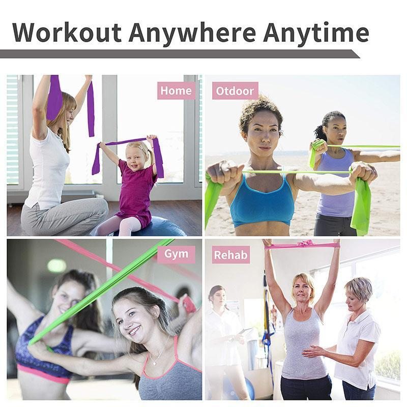 Resistance Bands - Professional Latex Elastic Exercise Bands