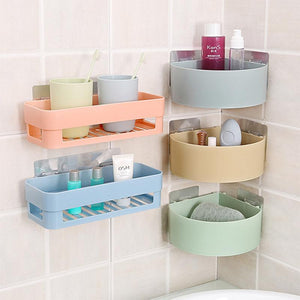 Bathroom Corner Storage Rack Organizer Shower Wall Shelf