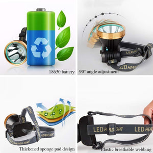 Rechargeable LED Strong Headlight Long Distance