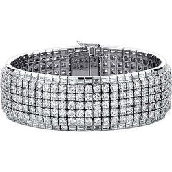 Cocktail Flex-Bangle Diamond Tennis Bracelet - 34.13 ctw.