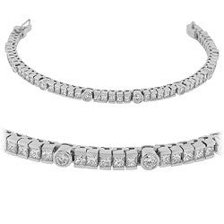 Channel & Bezel Tennis Bracelet