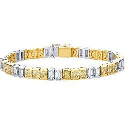 Precious Emerald & Princess Diamond Tennis Bracelet - 16.56 ctw.