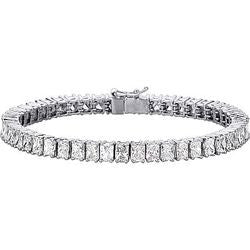 Simply Elegant Radiant Cut Diamond Tennis Bracelet - 14.61 ctw.