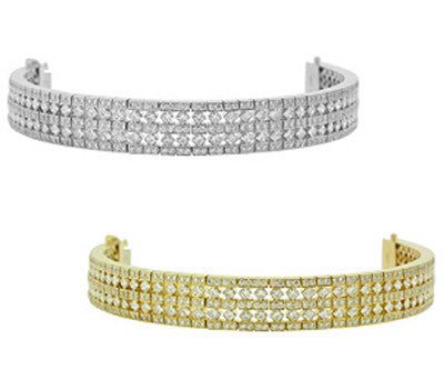 Diagonal Diamond Tennis Bracelet