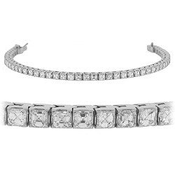 Asscher Cut Diamond Tennis Bracelet
