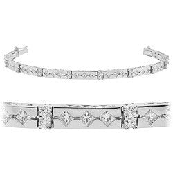 Symmetrical Diamond Tennis Bracelet