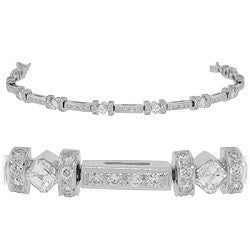 Diagonal Bar-Style Diamond Tennis Bracelet