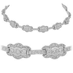 Scallop-Edge Diamond Tennis Bracelet