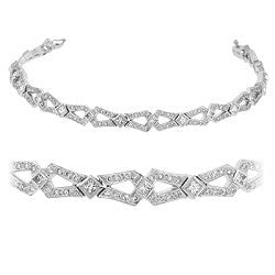 Diamond Bow Tie Pave Tennis Bracelet