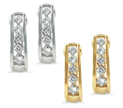 Diamond Channel Set French Clips
