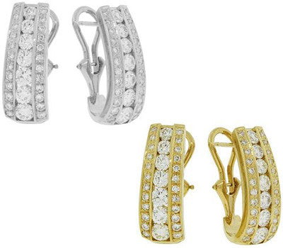 Chantilly French Clip Diamond Earrings