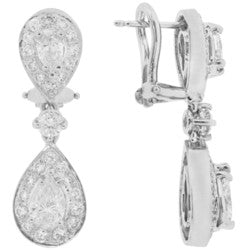 Double Dangle Diamond Earrings - 2.70 ctw.