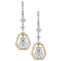 Lady Grace Diamond Earrings with Pink Pave Necklace - 4.41 ctw.