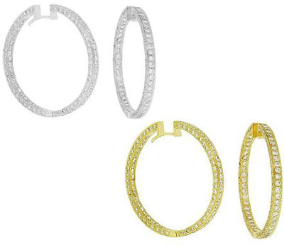 5.20 ctw. Infinity Pave Diamond Earrings