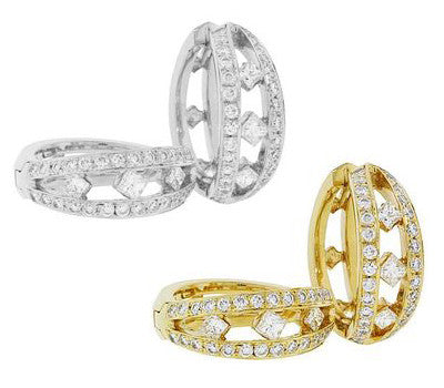 Simone Diamond Hoop Earrings