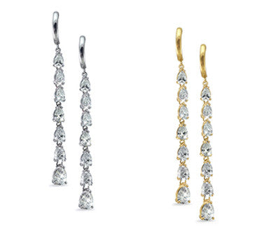 Dangling Frost Pear Cut Diamond Earrings - 5.90 ctw.