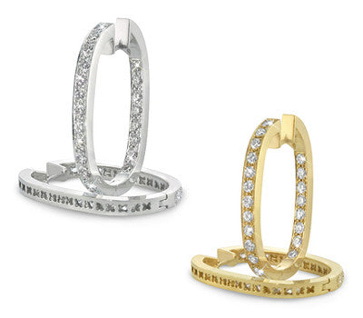 Oval Diamond Hoop Earrings - 3.25 ctw.