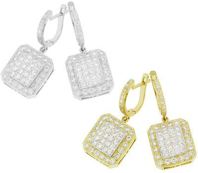 Quadrangle Diamond Earrings