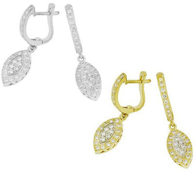 Longoria Dangle Diamond Earrings - 0.50 ctw.
