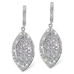 Marquise Diamond Earrings with French Clips - 2.60 ctw.