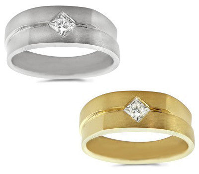 Solitaire Men's Diamond Ring - 0.35 ctw.
