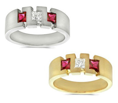 ZZ Men's Ruby & Diamond Ring