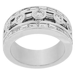 Floating Round & Baguette Diamond Ring - 2.10 ctw.