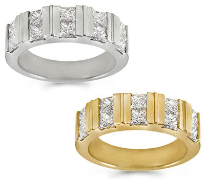 Princess Cut Diamond Band - 1.35 ctw.